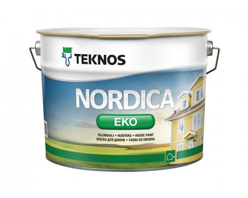 Акриловая глянцевая краска для домов Nordica Eko