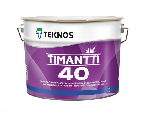 Полуглянцевая акрилатная спец краска Timantti 40